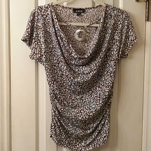 Tops - A.Byer top with attached necklace.